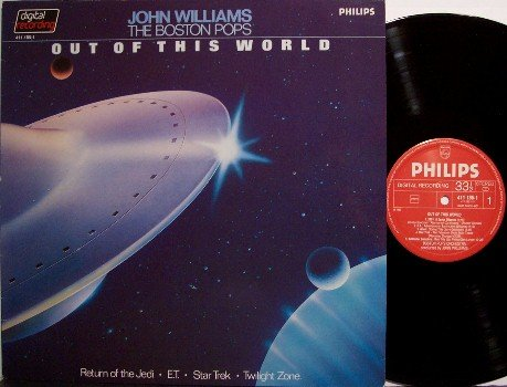 Out Of This World - Vinyl LP Record - John Williams Soundtrack Music - ET / Star Wars / Trek - OST