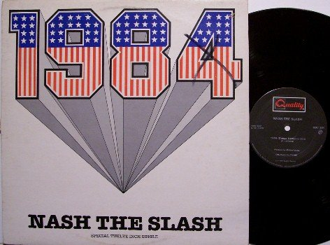 "Nash The Slash - 1984 - Vinyl 12"" Single Record - R&B"
