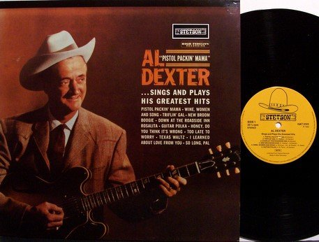 Dexter, Al - Sings & Plays His Greatest Hits - German Import - Vinyl LP Record - Texas Country