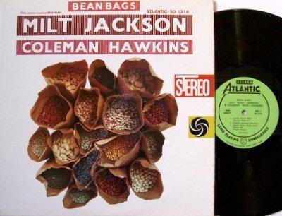 Jackson, Milt & Coleman Hawkins - Bean Bags - Vinyl LP Record - Atlantic Jazz