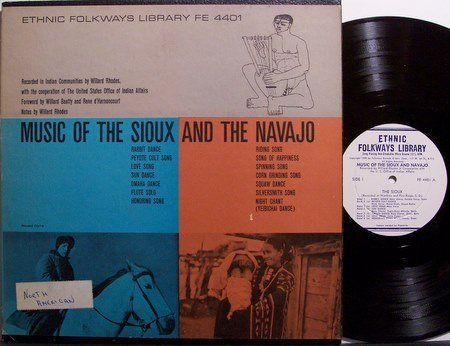 Sioux & The Navajo, Music Of - Vinyl LP Record - Indian Ethnic Folkways Folk