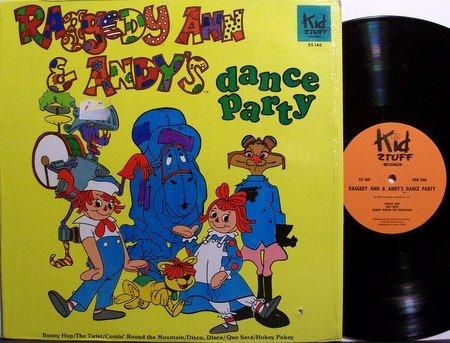 Raggedy Ann & Andy - Dance Party - Vinyl LP Record - Children Kids
