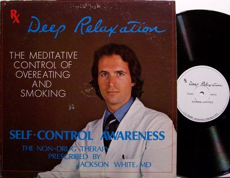 Meditation Therapy For Smoking & Overeating - Vinyl LP Record - ESP - Weird Unusual