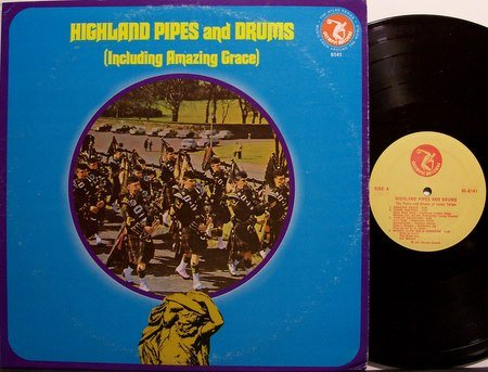 Highland Pipes & Drums - Bagpipes Band - Vinyl LP Record - Military