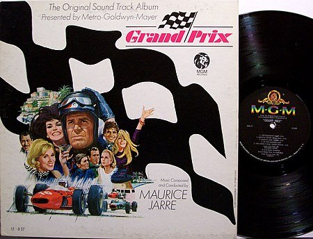 Grand Prix - Soundtrack - Vinyl LP Record - Mono - Maurice Jarre - Sports Racing - OST