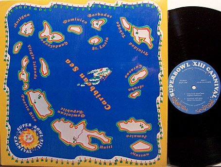 Superbowl XIII Carnival - Caribbean Halftime - Vinyl LP Record - NFL Football Sports