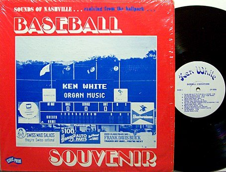 Nashville Sounds - Souvenir - Vinyl LP Record - Baseball Sports