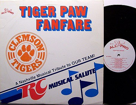 South Carolina Clemson Tigers - RC Musical Salute - Vinyl LP Record - Football Sports