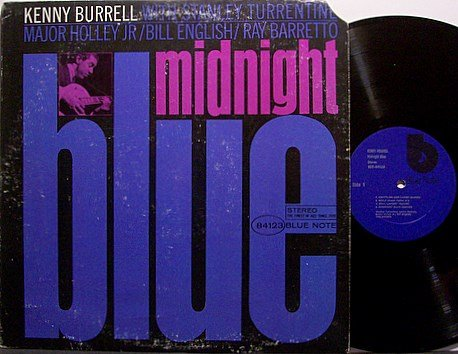 Burrell, Kenny - Midnight Blue - Vinyl LP Record - Stanley Turrentine etc - Blue Note Jazz