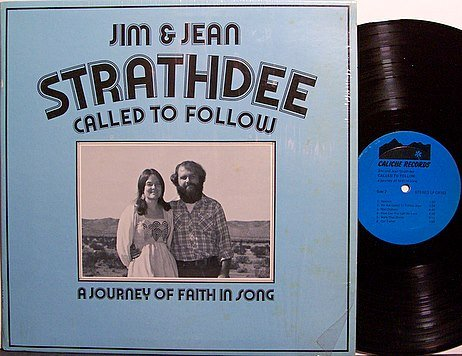 Strathdee, Jim & Jean - Called To Follow - Vinyl LP Record - Private Hippie Christian Folk