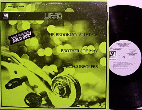 Brooklyn Allstars / Cosolers etc - Live - Vinyl LP Record - White Label Promo - AVI - Gospel