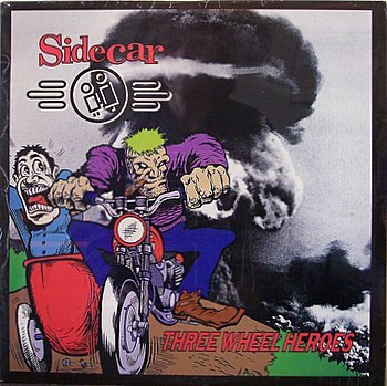 Sidecar - Three Wheel Heroes - Sealed Vinyl LP Record - Side Car 3 - Indie Punk Rock