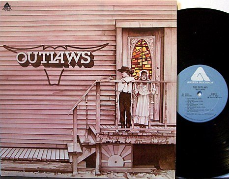 Outlaws, The - Self Titled - Vinyl LP Record - 1st Pressing - Southern Rock