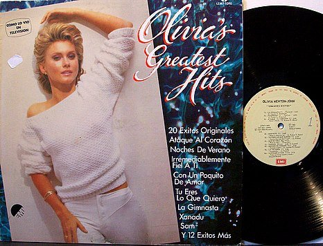 Olivia Newton John - Greatest Hits - Mexico Pressing with Spanish Text - Vinyl LP Record  - Pop Rock
