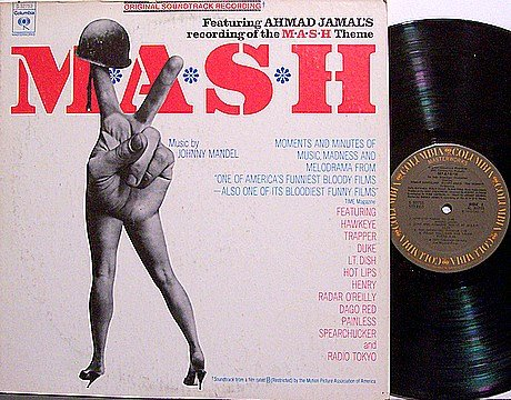 Mash - Soundtrack - Vinyl LP Record - Johnny Mandel - M A S H - M*A*S*H - OST