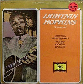 Hopkins, Lightnin' - Volume II - Sealed Vinyl LP Record - Blues