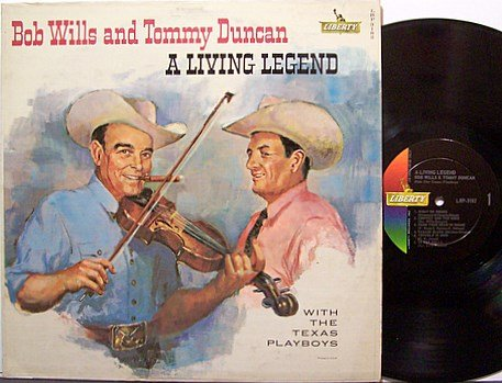 Wills Bob And Tommy Duncan - A Living Legend - Vinyl LP Record -  Country