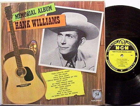 Williams, Hank - Hank Williams Memorial Album - Vinyl LP Record - Mono - Country