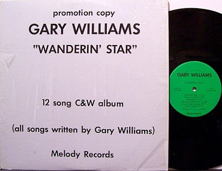 Williams, Gary - Wanderin' Star - Vinyl LP Record - Private Pressing - Country