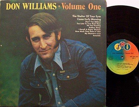Williams, Don - Volume One - Vinyl LP Record - Promo - Original JMI Label - Country