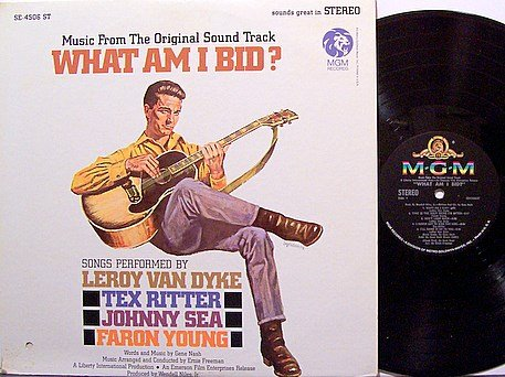 What Am I Bid - Soundtrack - Vinyl LP Record - Faron Young / Tex Ritter etc - Country