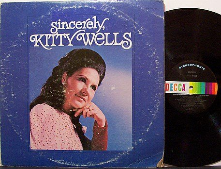 Wells, Kitty - Sincerely - Vinyl LP Record - Country