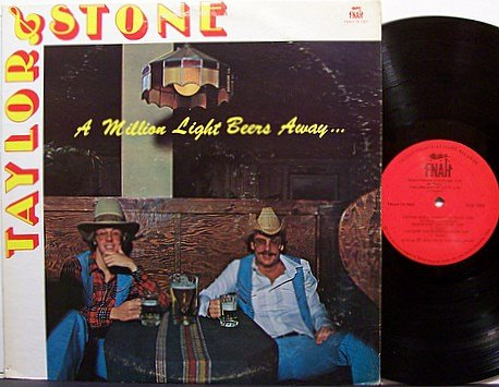 Taylor & Stone - A Million Light Beers Away - Vinyl LP Record - Private Nashville Country