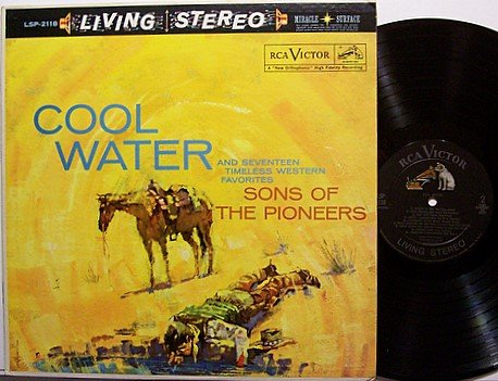 Sons Of The Pioneers - Cool Water - Vinyl LP Record - Country