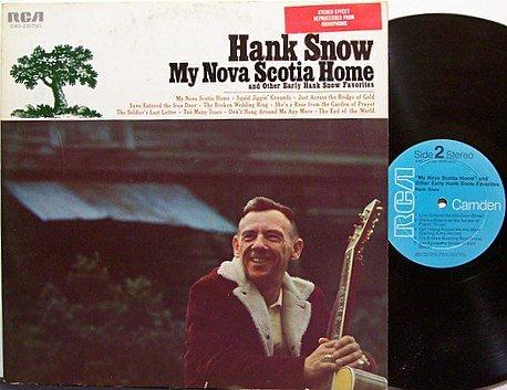 Snow, Hank - My Nova Scotia Home - Vinyl LP Record - Country