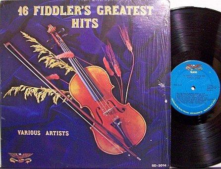 16 Fiddler's Greatest Hits - Various Artists - Vinyl LP Record - Bluegrass