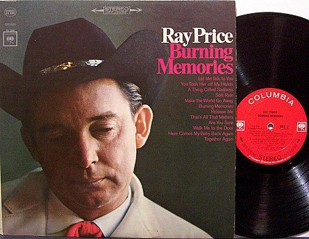Price, Ray - Burning Memories - Vinyl LP Record - Country