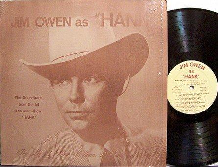 Owen, Jim - As Hank Williams - Vinyl LP Record - Country