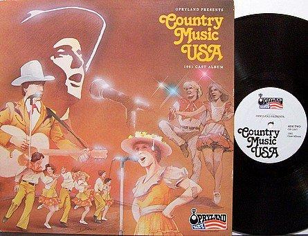 Opryland Presents Country Music USA - 1981 Cast Album - Vinyl LP Record - Nashville Theme Park