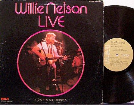 Nelson, Willie - Live I Gotta Get Drunk - Vinyl LP Record - Country