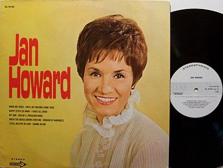 Howard, Jan - Self Titled (Decca Label) - Vinyl LP Record - White Label Promo - Country