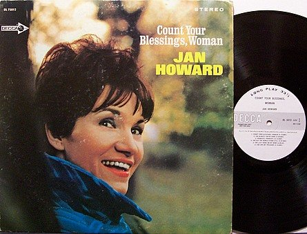 Howard, Jan - Count Your Blessings Woman - Vinyl LP Record - White Label Promo - Country