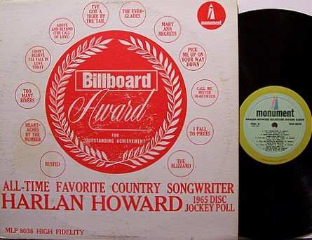 Harlan, Howard - Billboard Award Album - Vinyl LP Record - Country