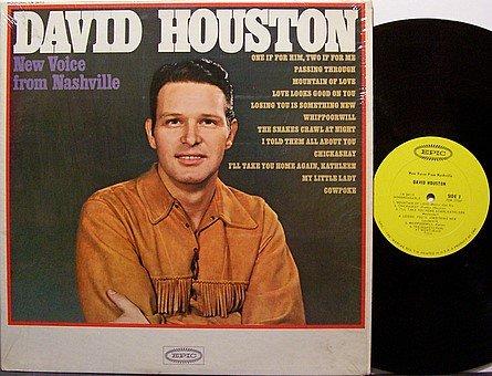 Houston, David - New Voice From Nashville - Vinyl LP Record - Country
