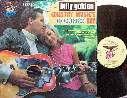 Golden, Billy - Country Music's Golden Boy - Vinyl LP Record - Country