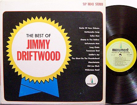 Driftwood, Jimmy - The Best Of - Vinyl LP Record - Country