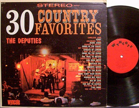 Deputies, The - 30 Country Favorites - Vinyl LP Record