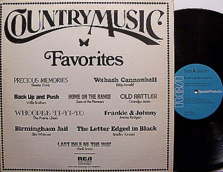 Country Music Magazine Favorites - Vinyl LP Record - Various Artists - Country