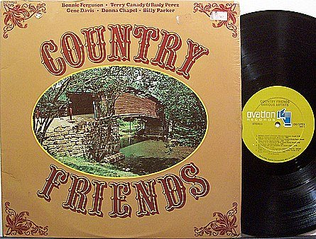 Country Friends LP - Vinyl LP Record - Various Artists - Bonnie Ferguson / Donna Chapel etc