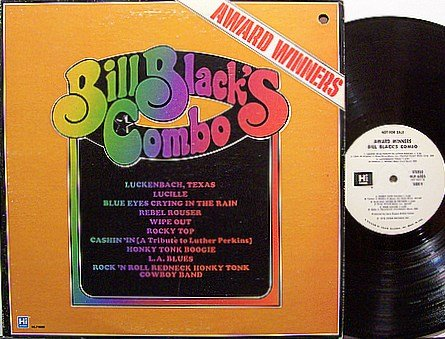 Bill Black's Combo - Award Winners - Vinyl LP Record - White Label Promo - Bill Black - Country
