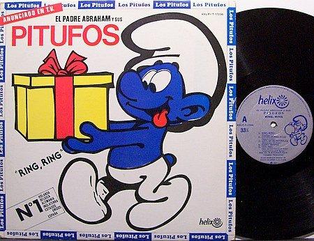 The Smurfs / Pitufos - Ring Ring - Spanish Pressing - Vinyl LP Record - Children Kids