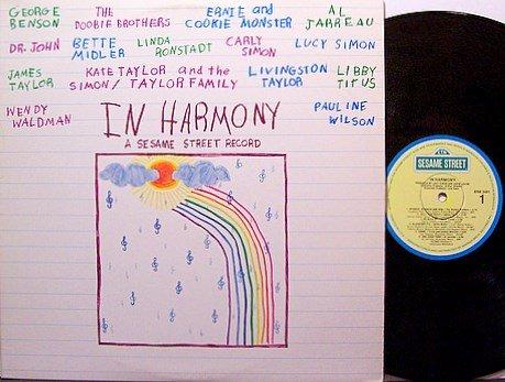 Sesame Street In Harmony - Vinyl LP Record - Various Artists - Children Kids