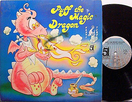 Puff The Magic Dragon - Vinyl LP Record - Children Kids