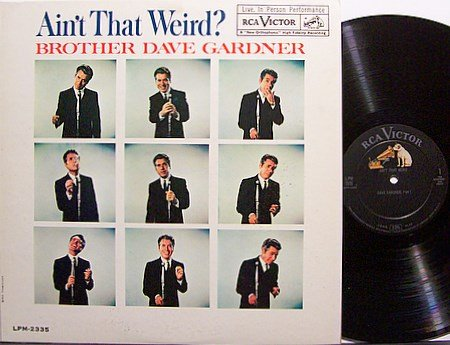 Gardner, Brother Dave - Ain't That Weird - Vinyl LP Record - Comedy