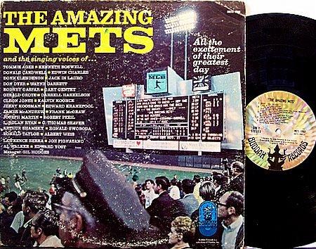 New York Mets - The Amazing NY Mets - Vinyl LP Record - MLB Baseball Sports
