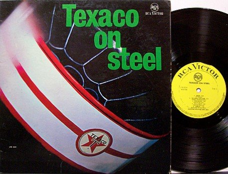 Texaco On Steel - Vinyl LP Record - Steel Kettle Drums - Trinidad Odd Unusual Weird